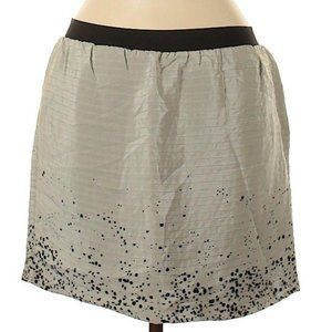 Geren Ford Ribbed Silk Splatter Dot Mini Skirt M